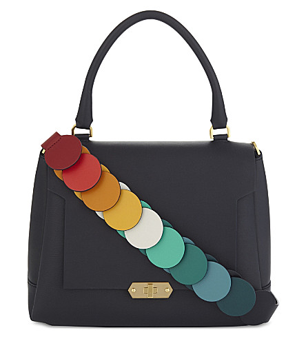 ANYA HINDMARCH Leather Bathurst satchel bag (Marine