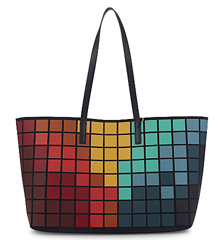 ANYA HINDMARCH Giant Pixels Ebury leather tote (Marine
