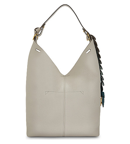 ANYA HINDMARCH Build-A-Bag small leather bucket bag (Steam