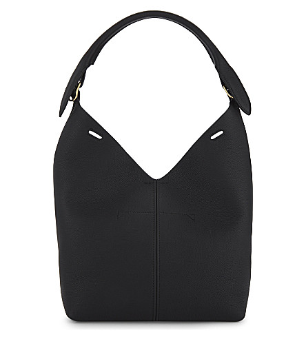 ANYA HINDMARCH Build-A-Bag small leather bucket bag (Black