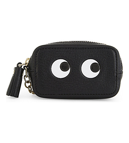 ANYA HINDMARCH Eyes leather coin purse (Black
