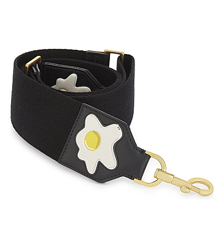 ANYA HINDMARCH Build-A-Bag leather bag strap (Black