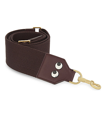 ANYA HINDMARCH Build-A-Bag leather bag strap (Burgundy nastro