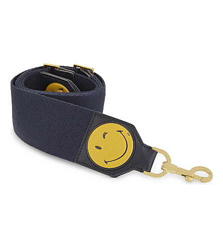 ANYA HINDMARCH Build-A-Bag leather bag strap (Ink nastro