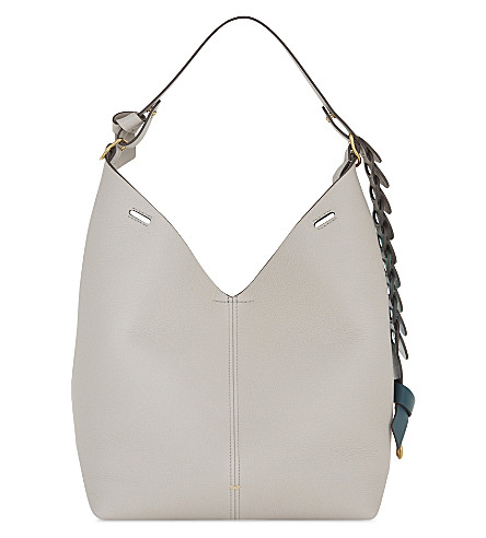 ANYA HINDMARCH Hobo leather shoulder bag and pouch (Steam