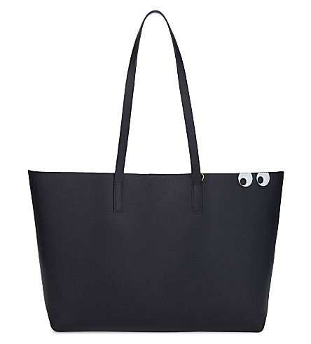 ANYA HINDMARCH Eyes graphic Ebury leather tote (Marine