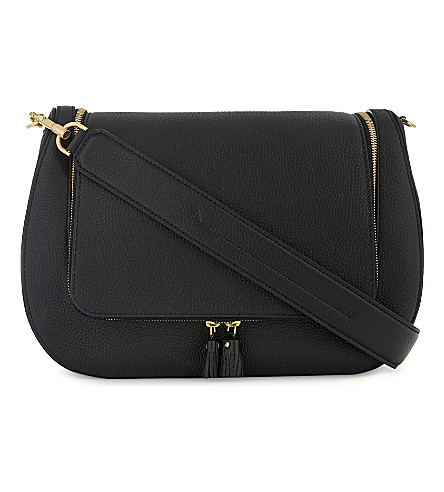 ANYA HINDMARCH Large grained leather satchel (Black