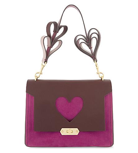 ANYA HINDMARCH Bathurst heart extra-small leather satchel (Raspberry