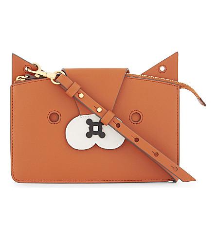 ANYA HINDMARCH Fox leather cross-body bag (Bespoke+orange