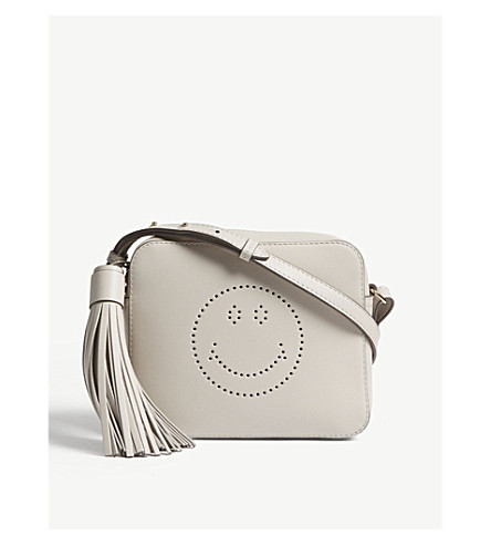 ANYA HINDMARCH Smiley leather cross-body bag (Steam