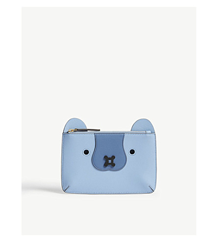 ANYA HINDMARCH Husky leather pouch (Pansy