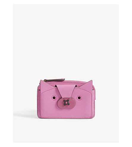 ANYA HINDMARCH Fox leather wallet (Bubblegum