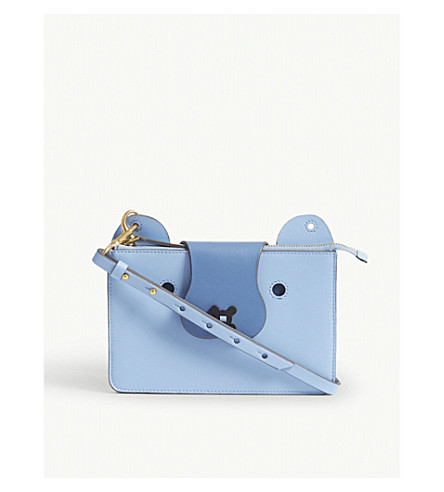 ANYA HINDMARCH Husky leather cross-body bag (Pansy