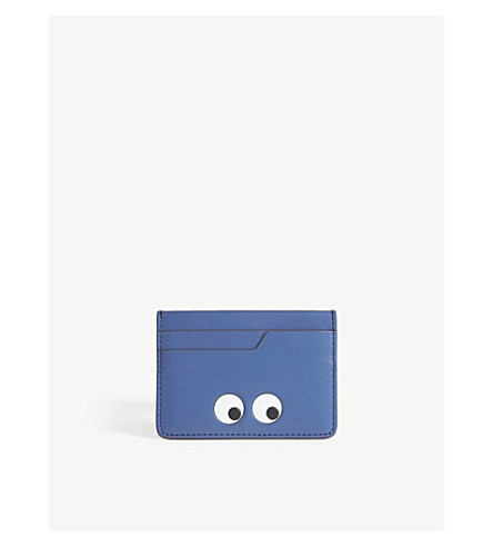 ANYA HINDMARCH Eyes leather card holder (Blueberry