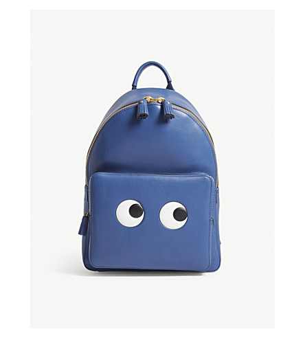 ANYA HINDMARCH Eyes mini leather backpack (Blueberry