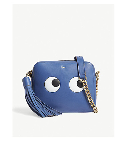 ANYA HINDMARCH Eyes leather cross-body bag (Blueberry