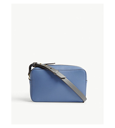 ANYA HINDMARCH Circle leather cross-body bag (Periwinkle