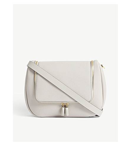 ANYA HINDMARCH Vere small grained leather saddle bag (Steam