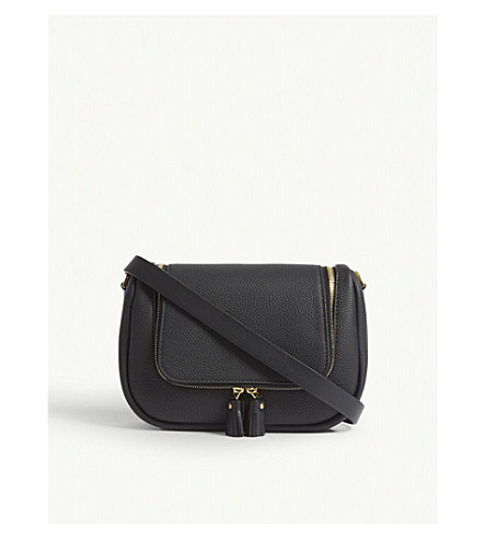 ANYA HINDMARCH Vere small grained leather satchel bag (Black