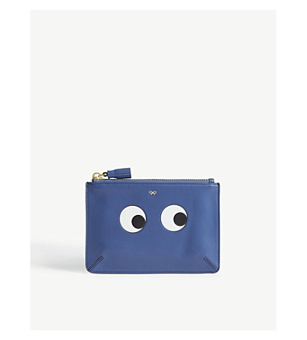 ANYA HINDMARCH Eye leather pouch (Blueberry