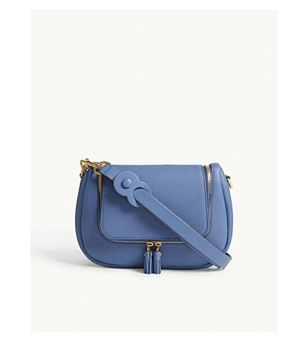 ANYA HINDMARCH Vere small leather grained satchel bag (Periwinkle