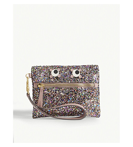 ANYA HINDMARCH Eyes glitter pouch (Multi