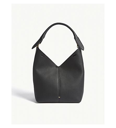 ANYA HINDMARCH Build-a-Bag leather hobo (Black/black