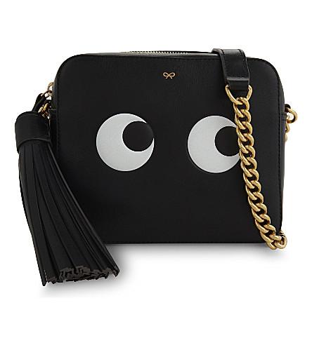 ANYA HINDMARCH Eyes leather cross-body bag (Black