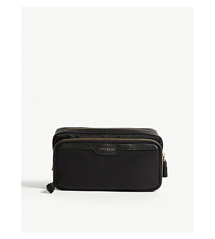 ANYA HINDMARCH Make-up small nylon pouch (Black