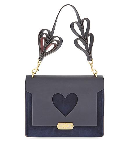 ANYA HINDMARCH Bathurst heart extra-small leather satchel (Marine
