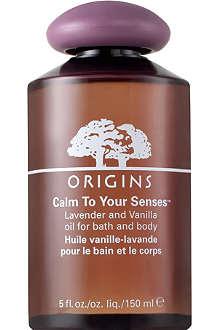 ORIGINS Calm to your Senses™ Lavender & Vanilla Oil for Bath & Body