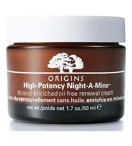 ORIGINS 高效 Night–A–Mins™ mineral–enriched oil–free 更新霜