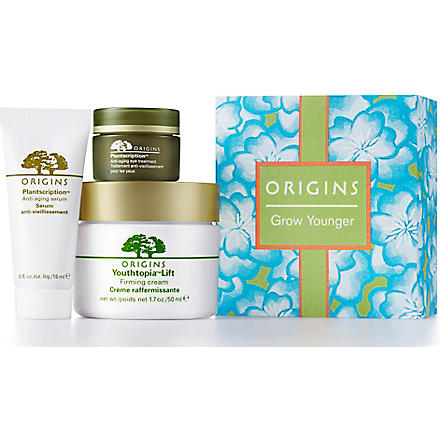 ORIGINS SPECIAL PURCHASE Limited Edition Grow-Younger Value set