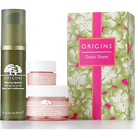 ORIGINS Great Starts anti–ageing gift set