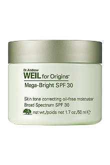 ORIGINS Dr. Andrew Weil for Origins™ Mega-Bright SPF 30 skin tone correcting oil-free moisturiser 50ml