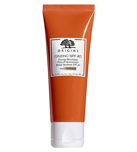 ORIGINS Ginzing Energy-Boosting Tinted Moisturizer SPF 40 50ml