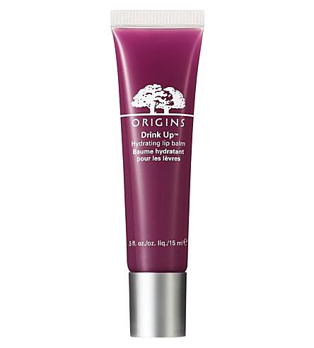 ORIGINS Drink Up Hydrating lip balm (Plum punch