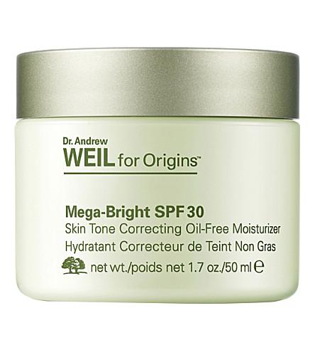 ORIGINS Mega-Bright SPF30 Skin Tone Correcting Oil-Free Moisturiser