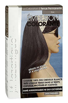 J F LAZARTIGUE Colour Emulsion for Grey Hair in Black 60ml