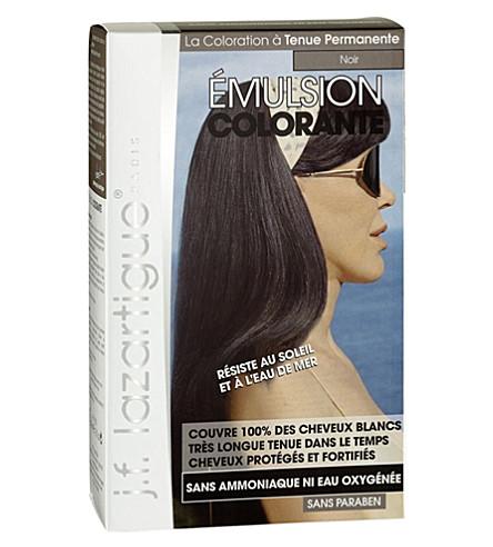 J F LAZARTIGUE Colour Emulsion for Grey Hair in Black 60ml