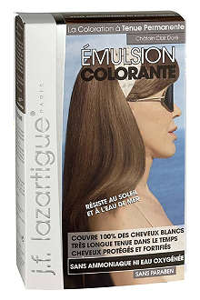 J F LAZARTIGUE Colour Emulsion for Grey Hair in Light Golden Chestnut 60ml