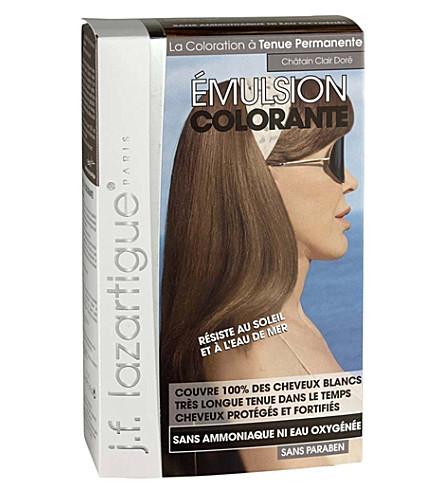 J F LAZARTIGUE Colour Emulsion for Grey Hair in Light Golden Chestnut 60ml