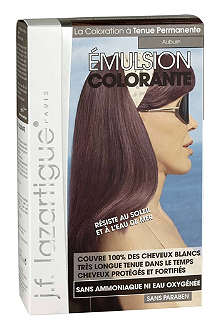 J F LAZARTIGUE Colour Emulsion for Grey Hair in Auburn 60ml