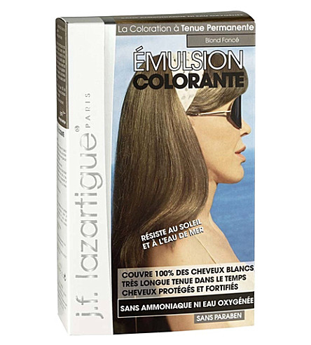 J F LAZARTIGUE Colour Emulsion for Grey Hair in Dark Blonde 60ml