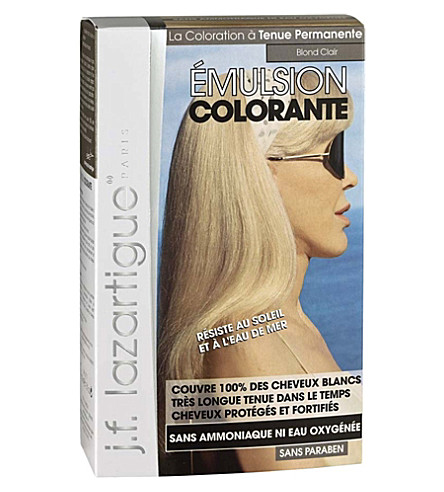 J F LAZARTIGUE Colour Emulsion for Grey Hair in Light Blonde 60ml