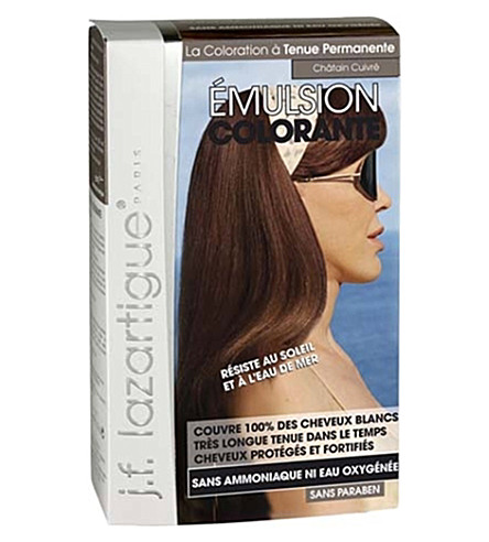 J F LAZARTIGUE Colour Emulsion for Grey Hair in Chestnut Copper 60ml