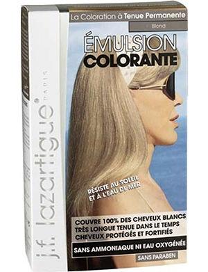 J F LAZARTIGUE Colour Emulsion for Grey Hair in Blond 60ml