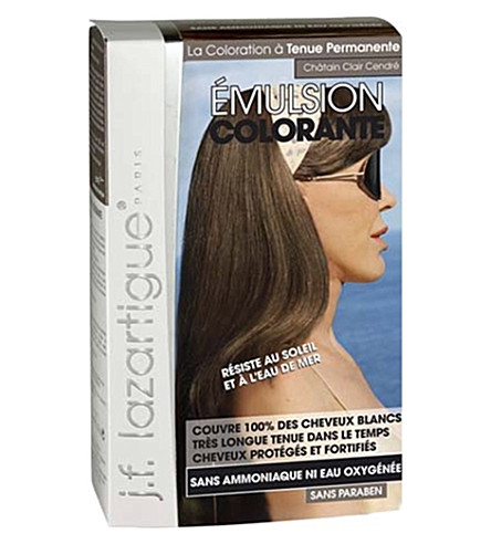 J F LAZARTIGUE Colour Emulsion for Grey Hair in Light Ash Chestnut 60ml