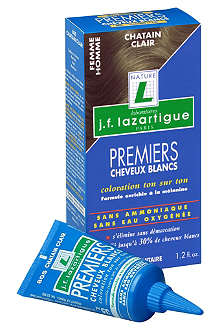 J F LAZARTIGUE First Grey Hair Colour in Light Chestnut 35ml