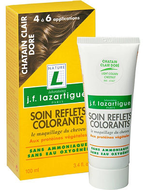 J F LAZARTIGUE Colour Reflecting conditioner - Light Golden Chestnut 100ml
